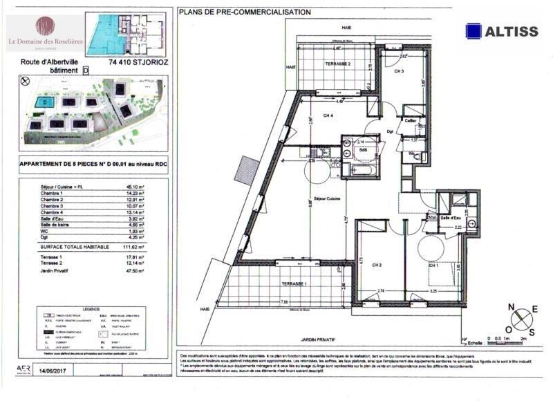 Sale apartment Saint jorioz 450000€ - Picture 2