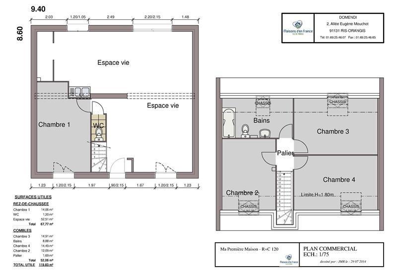 Maison  6 pièces + Terrain 500 m² Courville-sur-Eure par MAISONS D'EN FRANCE