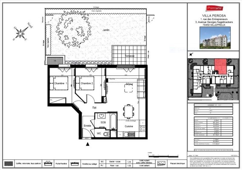 Sale apartment Villepreux 209000€ - Picture 4