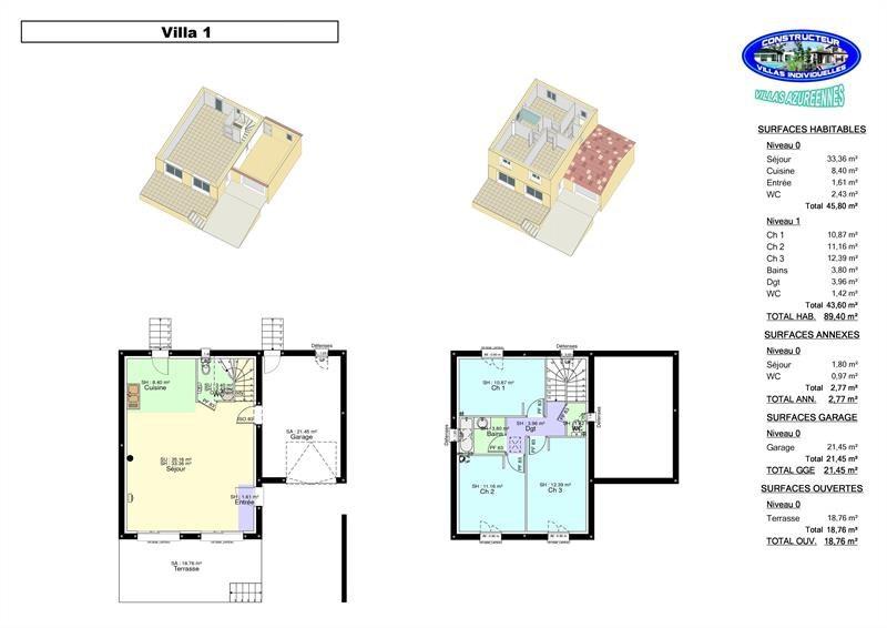 Maison  4 pièces + Terrain 280 m² Lambesc par GMO CONSTRUCTIONS