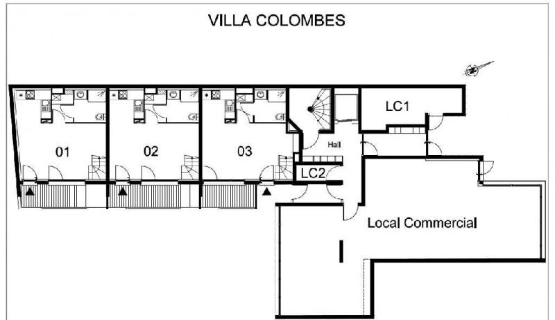 vente bureau bois colombes hauts de seine 92 115 m. Black Bedroom Furniture Sets. Home Design Ideas