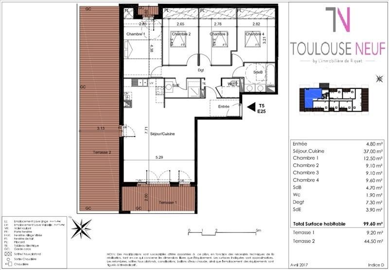 Vente appartement Tournefeuille 352000€ - Photo 4