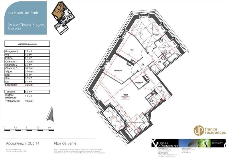 Vente appartement Suresnes 849000€ - Photo 6