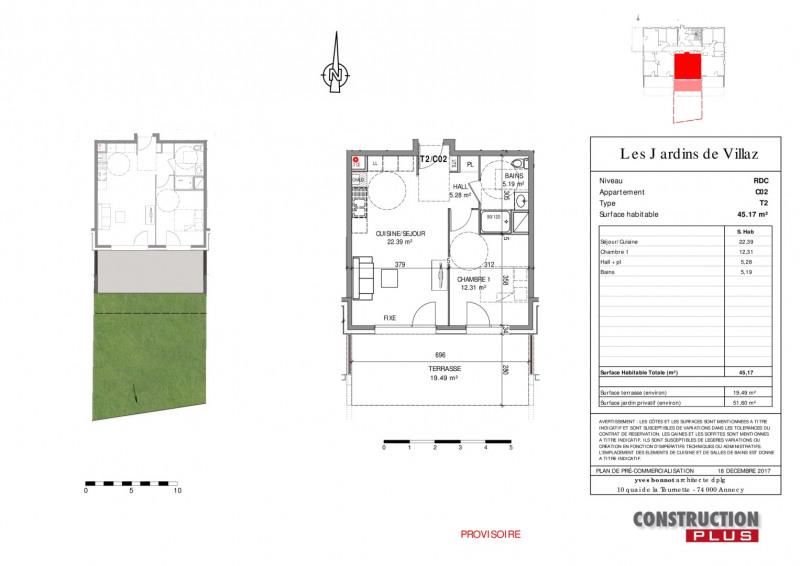 Vente appartement Villaz 202000€ - Photo 5