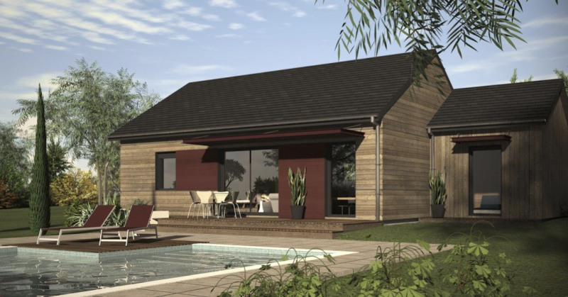 """Modèle de maison  """"Maison ossature 83 m² modèle catalogue"""" à partir de 4 pièces Landes par ID BOIS HABITAT"""