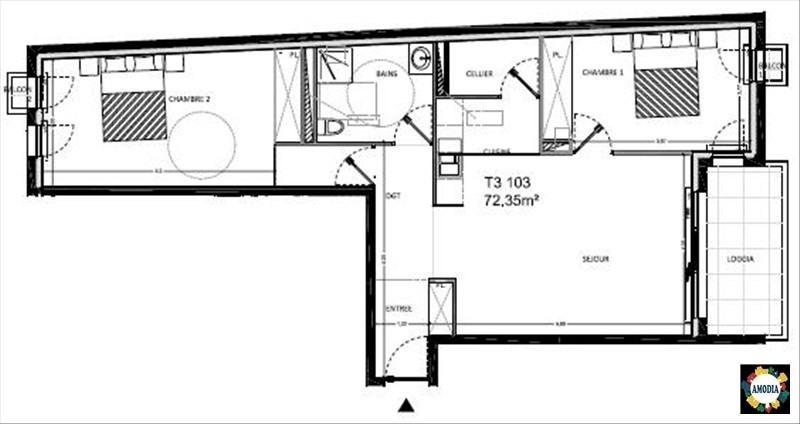 Sale apartment Bruges 258900€ - Picture 2