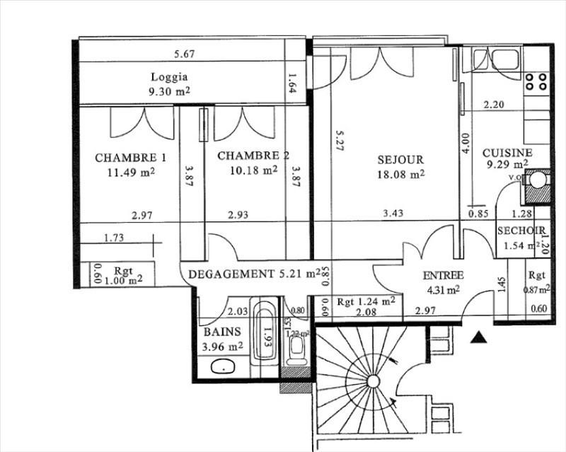 Vente appartement Plaisir 183750€ - Photo 2