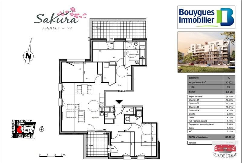 Vente appartement Ambilly 549000€ - Photo 3