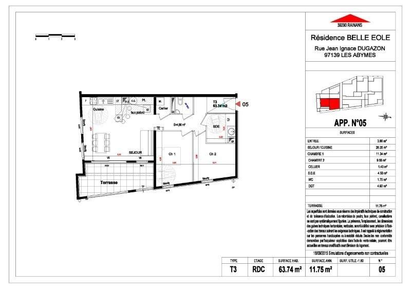 Sale apartment Les abymes 156500€ - Picture 6