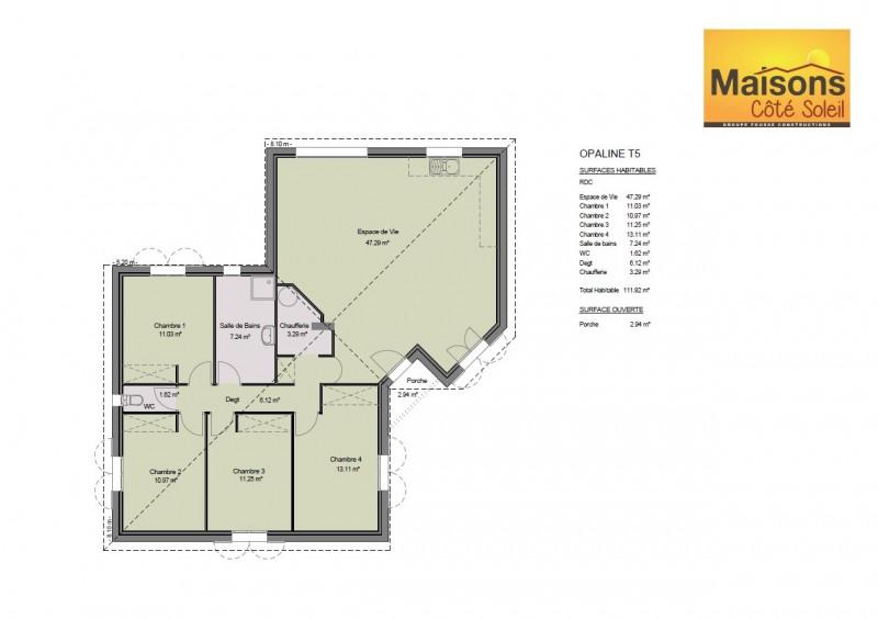 Maison  5 pièces + Terrain 1100 m² Puygouzon par maisons coté soleil