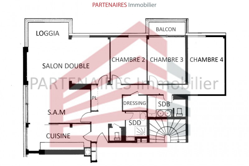 Sale apartment Le chesnay 529000€ - Picture 11