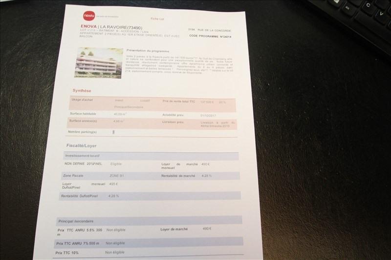 Sale apartment La ravoire 132000€ - Picture 8