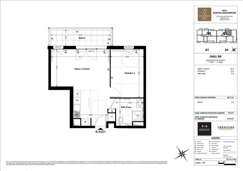 Vente appartement Garches 337000€ - Photo 3