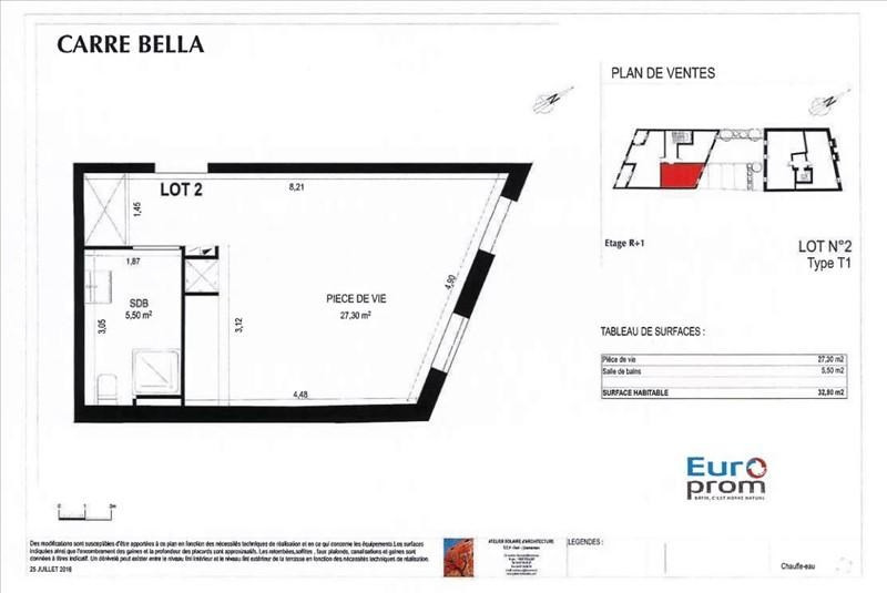 Sale apartment Montpellier 122800€ - Picture 2