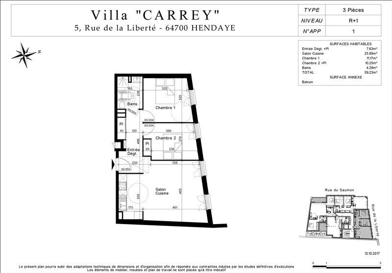 Venta de prestigio  apartamento Hendaye 204000€ - Fotografía 3
