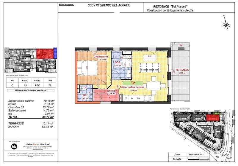 Vendita appartamento Bourgoin jallieu 109400€ - Fotografia 4