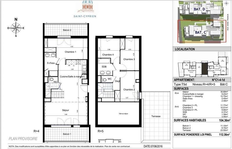 Vente appartement Toulouse 380000€ - Photo 7