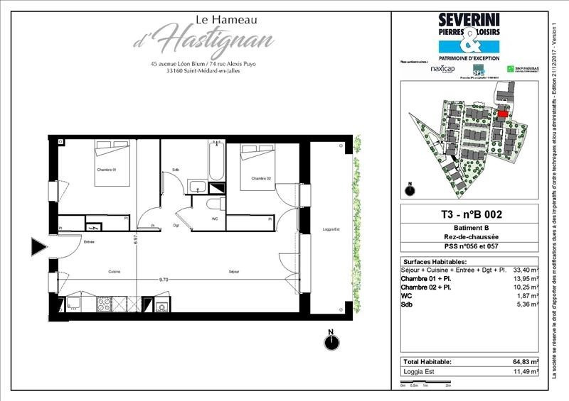 Vente appartement St medard en jalles 284200€ - Photo 3