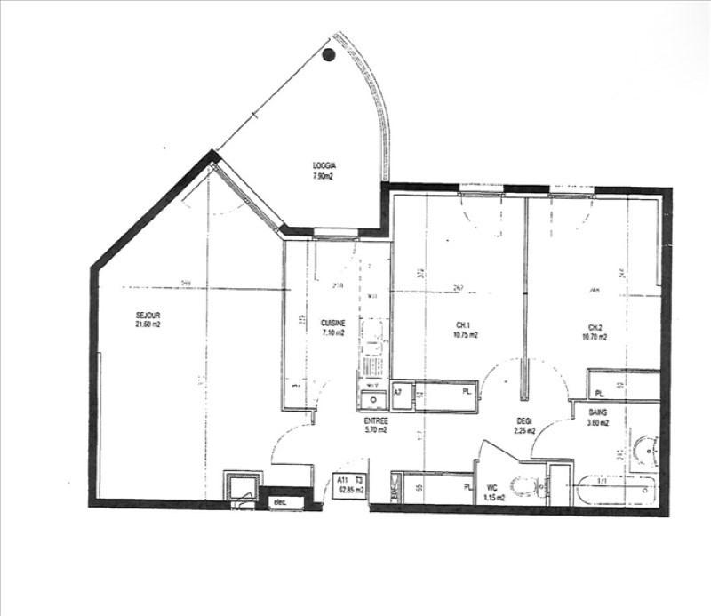 Vendita appartamento Tassin la demi lune 210000€ - Fotografia 7