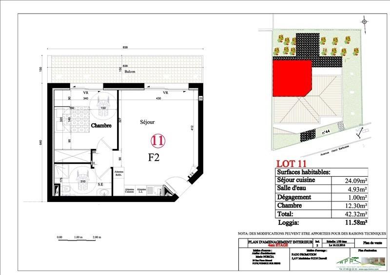 Investment property apartment Vigneux sur seine 166000€ - Picture 2