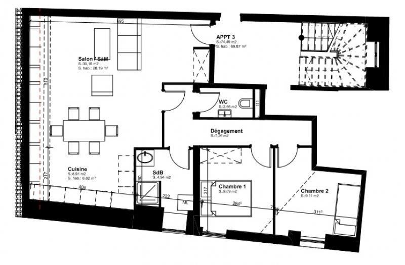Vendita appartamento Brumath 144215€ - Fotografia 1