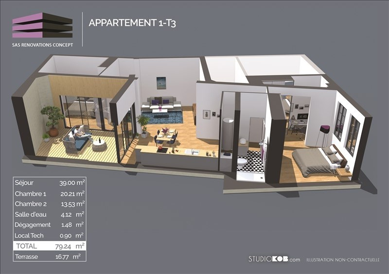 Vente appartement Bordeaux 405 854€ - Photo 1