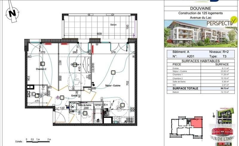 Vendita appartamento Douvaine 250000€ - Fotografia 3