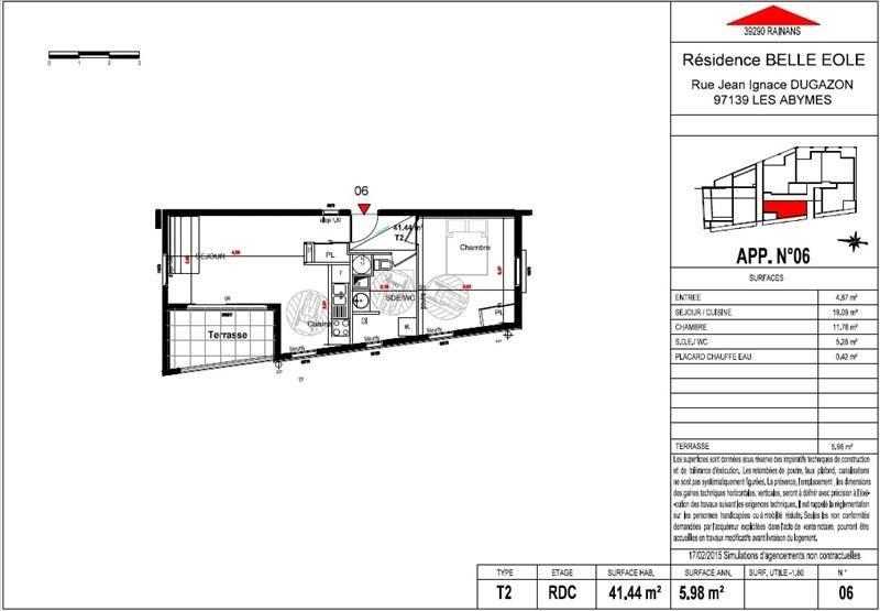 Vente appartement Les abymes 145900€ - Photo 2