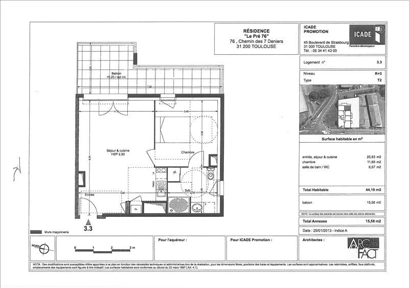 Alquiler  apartamento Toulouse 596€ CC - Fotografía 8