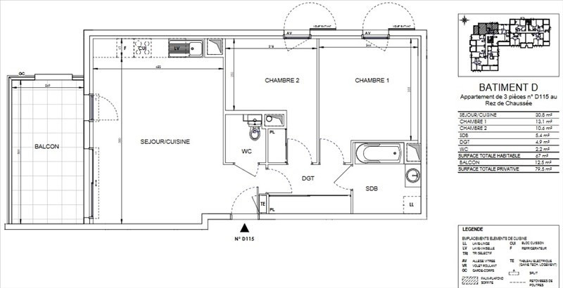 Sale apartment Ollioules 271000€ - Picture 2