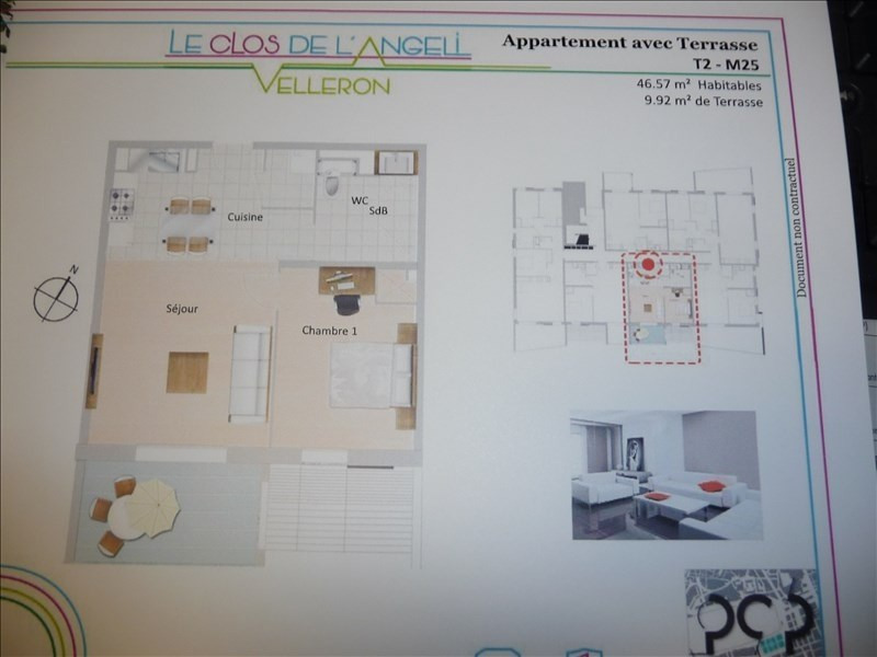Investeringsproduct  appartement Velleron 148800€ - Foto 2