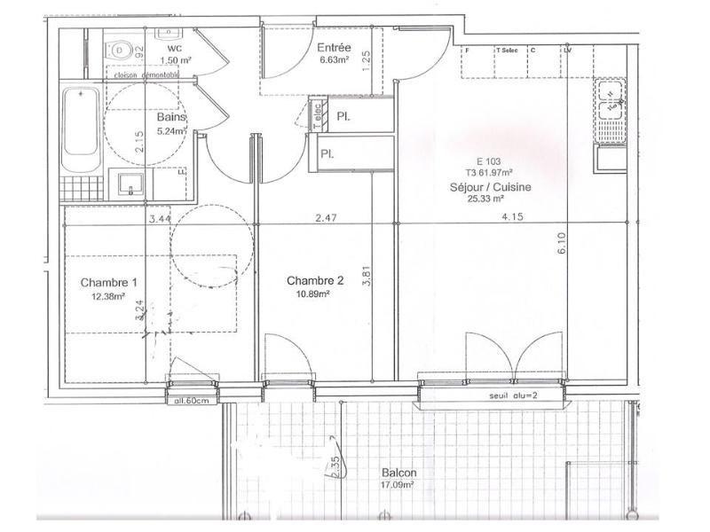 Location appartement Montbonnot 930€cc - Photo 10