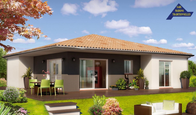 """Modèle de maison  """"Maison contemporaine 4 pièces"""" à partir de 4 pièces Tarn-et-Garonne par G.S.I"""