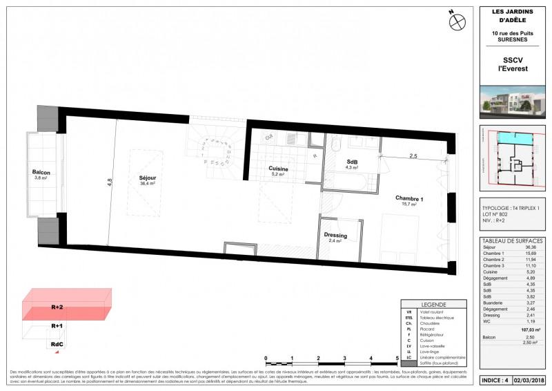 Sale apartment Suresnes 867000€ - Picture 4