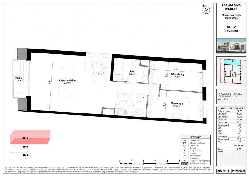 Sale apartment Suresnes 867000€ - Picture 5