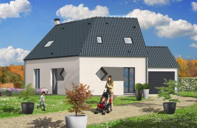 Maison  6 pièces + Terrain 1000 m² Le Neubourg par RESIDENCES INTER ROUEN