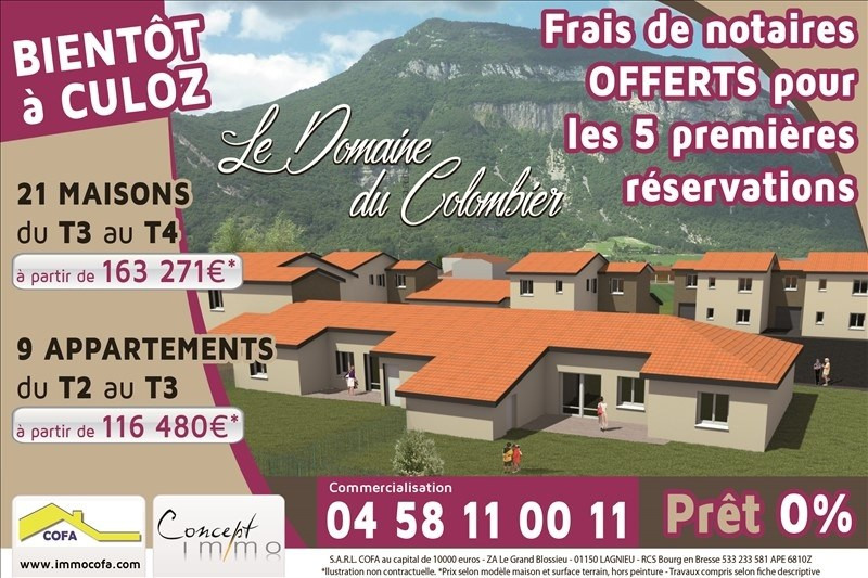 Sale apartment Culoz 117 936€ - Picture 1
