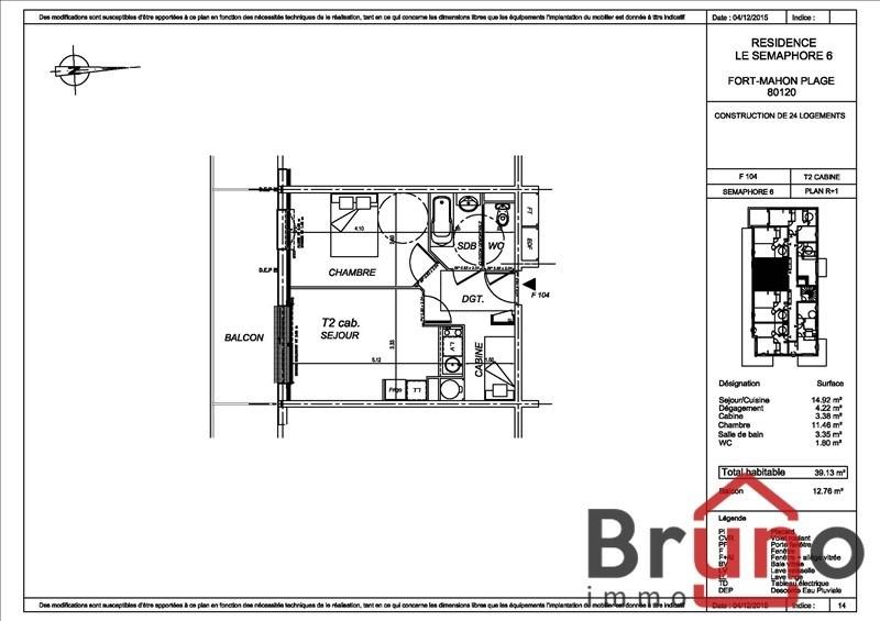 Vente appartement Fort mahon plage 164000€ - Photo 1