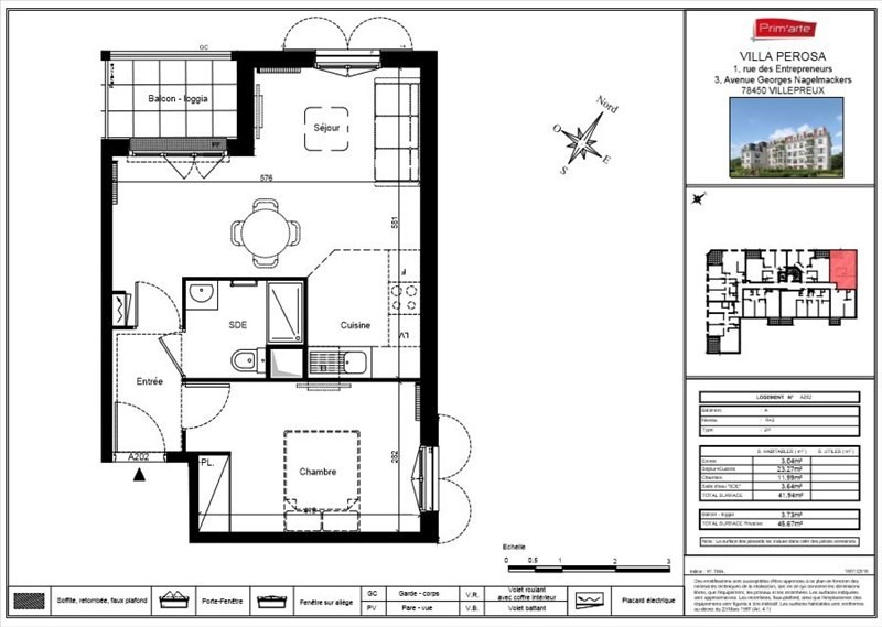 Sale apartment Villepreux 167000€ - Picture 3