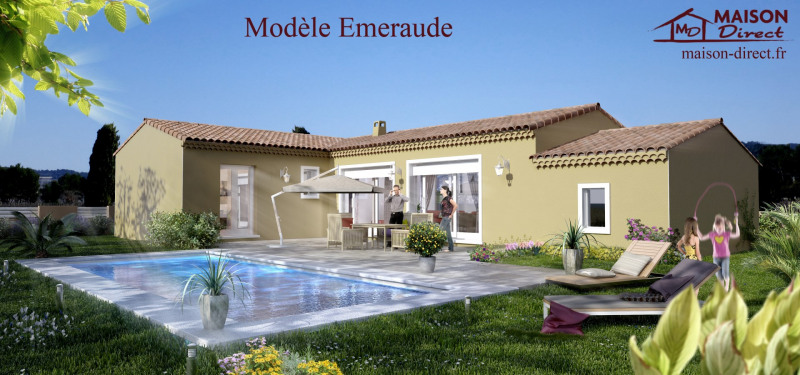 """Modèle de maison  """"Magnifique villa de 105 m²"""" à partir de 6 pièces Drôme par MAISON DIRECT ST PAUL TROIS CHATEAUX"""