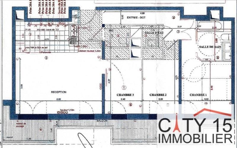 Immobile residenziali di prestigio appartamento Paris 15ème 1160000€ - Fotografia 3