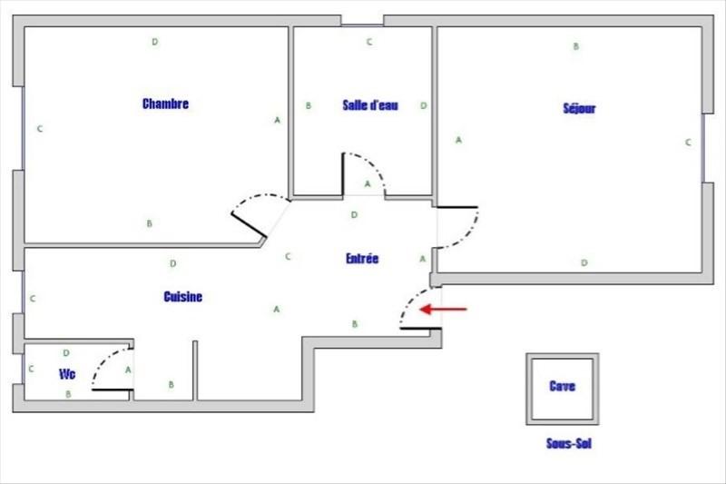 Locação apartamento Nanterre 850€ CC - Fotografia 4
