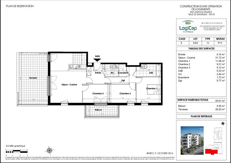 Investment property apartment Bagnolet 322500€ - Picture 3