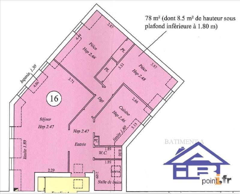 Sale apartment Saint germain en laye 289000€ - Picture 5