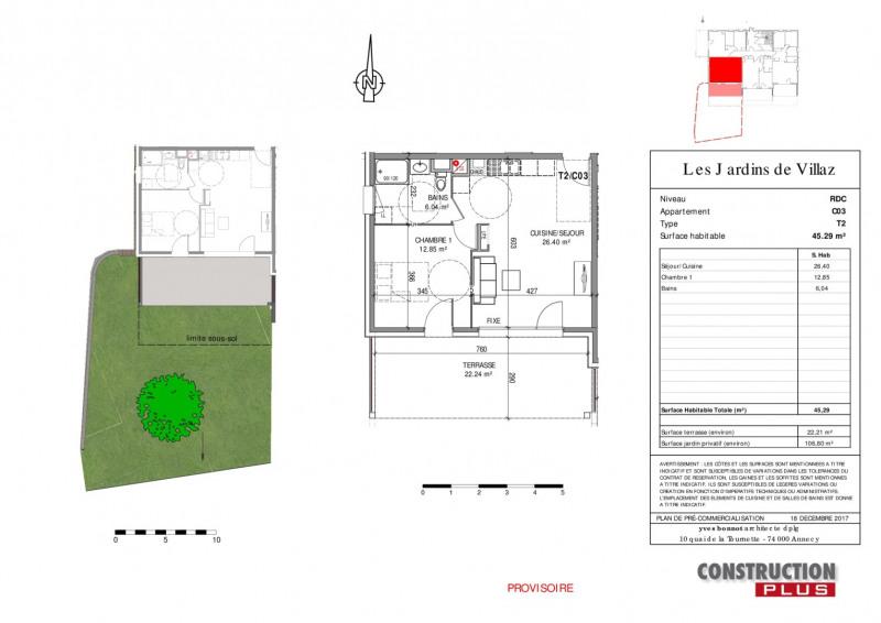 Sale apartment Villaz 204000€ - Picture 3