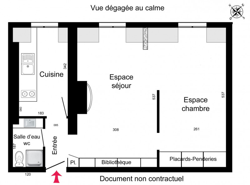 Rental apartment Paris 7ème 1099€ CC - Picture 4