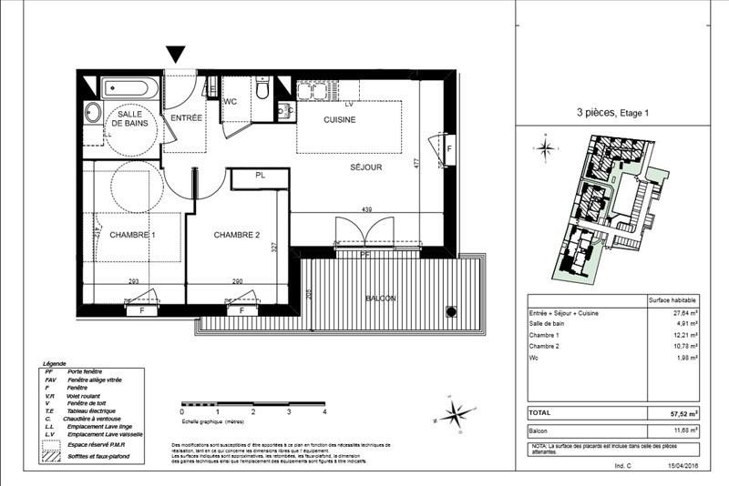 Vente appartement Blagnac 188000€ - Photo 2