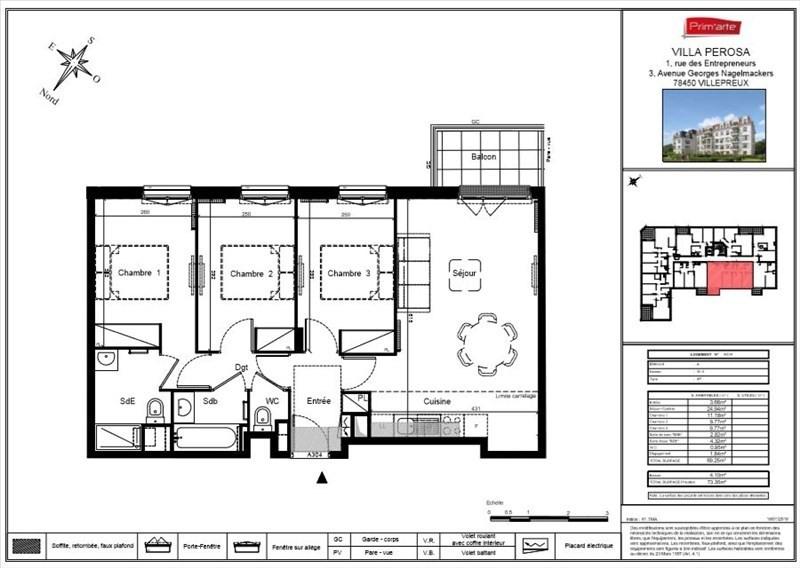 Vente appartement Villepreux 260000€ - Photo 2