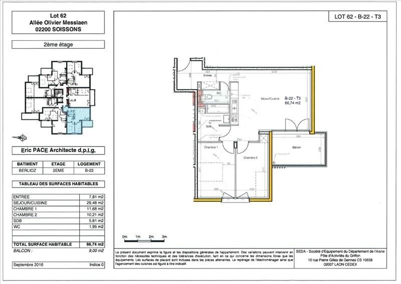 Produit d'investissement appartement Soissons 148000€ - Photo 1
