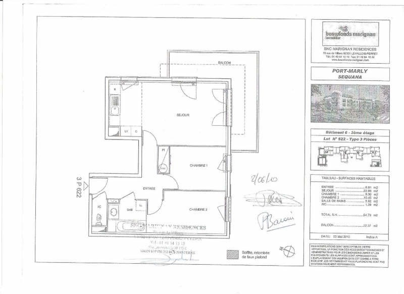 Location appartement Le port marly 1000€ CC - Photo 8
